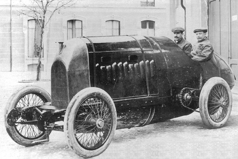 1911 fiat s76 4-cyl 28,3-litre - felice nazzaro