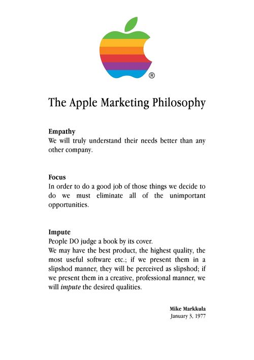 Applemarketingphilosophy