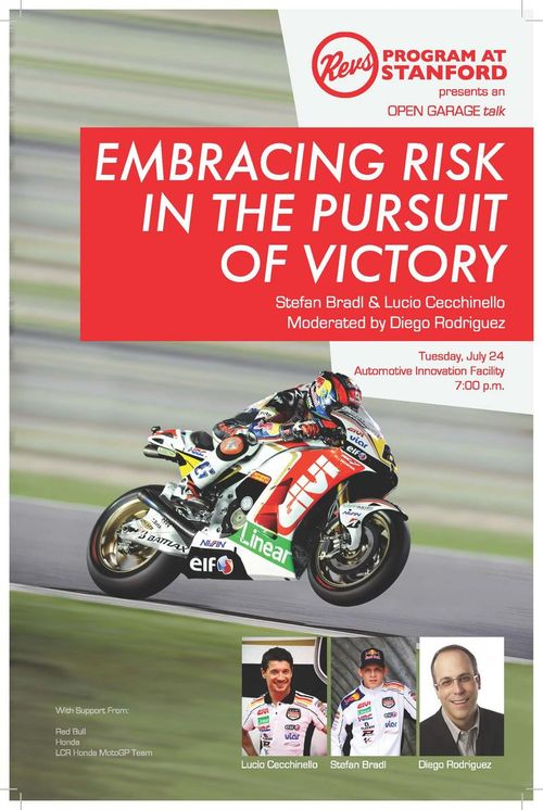 Embracing Risk in the Pursuit of Victory Stefan Bradl Lucio Cecchinello Diego Rodriguez Reilly Brennan Stanford Revs Program MotoGP LCR Honda