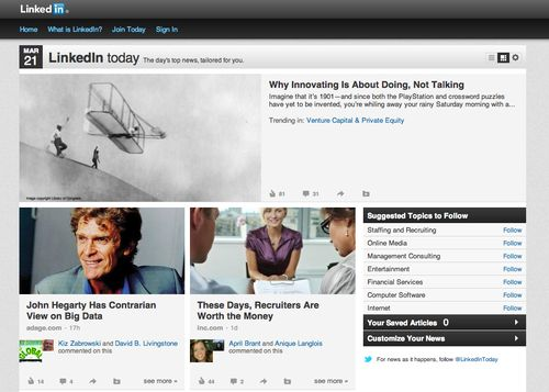Diego Rodriguez LinkedIn Debut Front Page